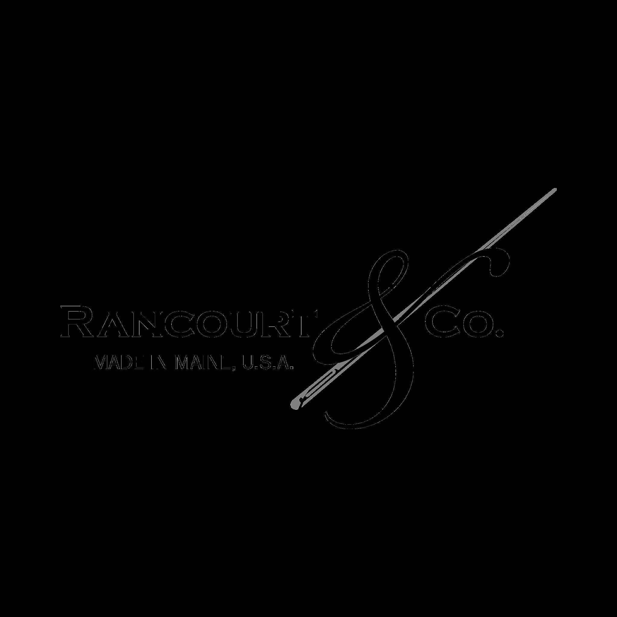 Mustavalkoinen rancourt and co logo