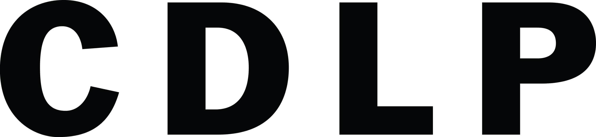 Mustavalkoinen c d p l logo