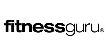 Mustavalkoinen Fitnessguru logo