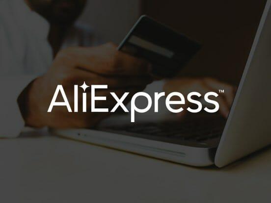 Aliexpress valkoinen logo