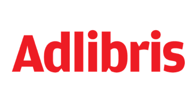 Punainen Adlibris logo