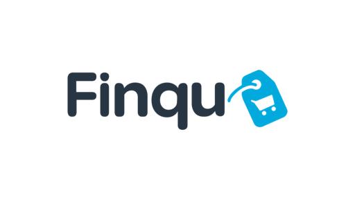 Musta sininen Finqu logo