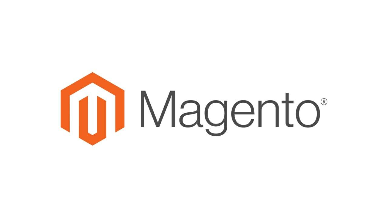 Musta oranssi Magento logo