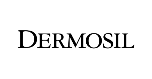 Mustavalkoinen Dermosil logo